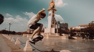 Skateboarding in Cambodia