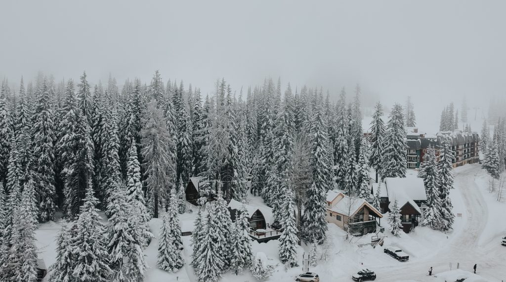 winter in vernon bc at silver star mountain resort